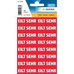 HERMA Textetiketten EILT SEHR, 12 x 40 mm, rot / weiß