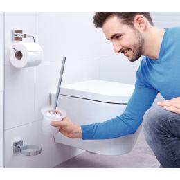 tesa WC-Garnitur EKKRO, verchromt, inkl. Klebelösung
