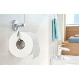 tesa WC-Papierrollenhalter SMOOZ, verchromt, mit Klebelösung