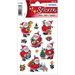 HERMA Weihnachts-Sticker DECOR Lustiger Nikolaus, Papier