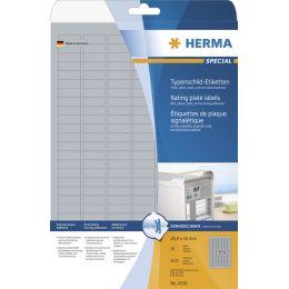 HERMA Typenschild-Etiketten SPECIAL, 45,7 x 21,2 mm, silber
