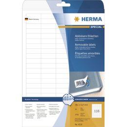 HERMA Universal-Etiketten SPECIAL, 25,4 x 10 mm, weiß