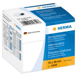 HERMA Adress-Etiketten, 89 x 42 mm, endlos, weiß