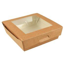 PAPSTAR Feinkostbox pure, eckig, 750 ml, braun