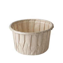 PAPSTAR Backform pure, rund, 105 ml, braun