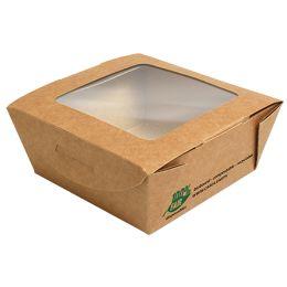 PAPSTAR Feinkostbox pure, eckig, 350 ml, braun