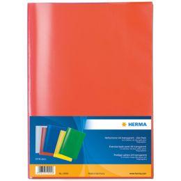 HERMA Heftschoner, DIN A5, aus PP, transparent-rot