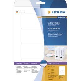 HERMA Ordnerrücken-Etiketten SPECIAL, 157 x 61 mm, weiß
