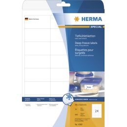 HERMA Tiefkühletiketten SPECIAL, 66 x 33,8 mm, weiß