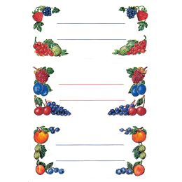 HERMA Haushalts-Etiketten Beerenarrangements, 76 x 35 mm