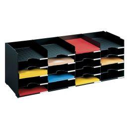 PAPERFLOW Sortierstation Formularbox, 20 Fächer, schwarz