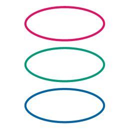 HERMA Buchetiketten oval, rot / grün / blau