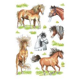 HERMA Sticker DECOR Gezeichnete Pferde