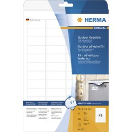 HERMA Outdoor Folien-Etiketten SPECIAL, 45,7 x 21,2 mm