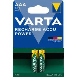VARTA NiMH Akku Rechargeable Accu, Micro (AAA), 800 mAh