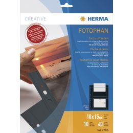 HERMA Fotophan Sichthüllen DIN A4, für Fotos 20 x 30 cm