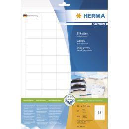 HERMA Universal-Etiketten PREMIUM, 48,3 x 33,8 mm, weiß