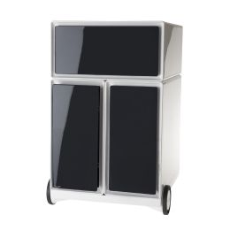 PAPERFLOW Rollcontainer easyBox, 1 Schub, weiß / schwarz
