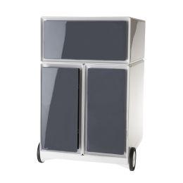 PAPERFLOW Rollcontainer easyBox, 1 Schub, weiß / anthrazit