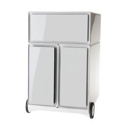 PAPERFLOW Rollcontainer easyBox, 1 Schub, weiß / weiß