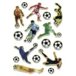 HERMA Sticker MAGIC Fußballer in Aktion, Stone