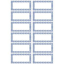HERMA Haushalts-Etiketten Blaue Bordüre