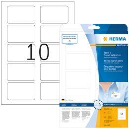HERMA Namens-Etiketten SPECIAL, 80,0 x 50,0 mm, weiá