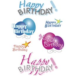HERMA Geschenke-Sticker DECOR Happy Birthday