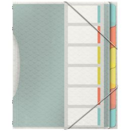 Esselte Ordnungsmappe ColourIce, A4, PP, 6 Fächer
