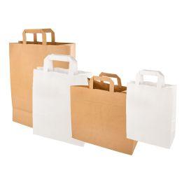 PAPSTAR Papier-Tragetasche, 180 x 100 x 220 mm, weiß