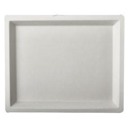 PAPSTAR Zuckerrohr-Teller pure, eckig, 130 x 260 mm, 50er