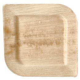 PAPSTAR Palmblatt-Teller pure, eckig, 200 x 200 mm, 25er