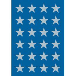 HERMA Weihnachts-Sticker DECOR Sterne, 15 mm, silber