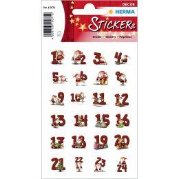 HERMA Weihnachts-Sticker DECOR Lebkuchenzahlen