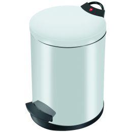 Hailo Tret-Abfalleimer T2 M, rund, 11 Liter, weiß