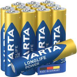 VARTA Alkaline Batterie LONGLIFE Power, Micro AAA, 8+4
