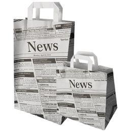 PAPSTAR Tragetasche Newsprint, 220 x 100 x 360 mm