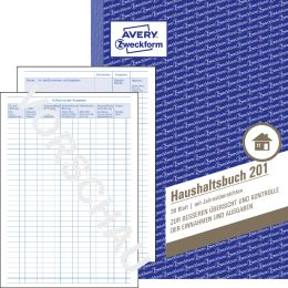 AVERY Zweckform Formularbuch Haushaltsbuch, A5, 36 Blatt