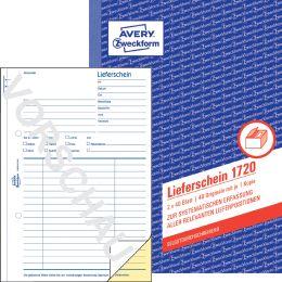 AVERY Zweckform Formularbuch Lieferschein, 2 x 50 Blatt