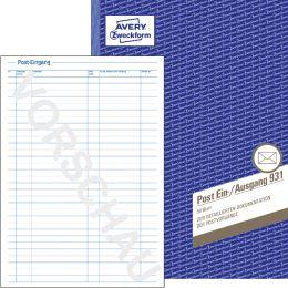 AVERY Zweckform Formularbuch Posteingangs-/Ausgangsbuch,A4