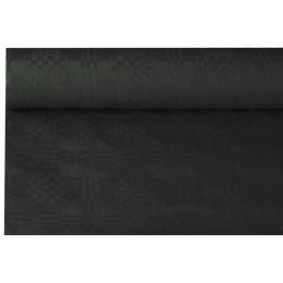 PAPSTAR Damast-Tischtuch, (B)1,2 x (L)8 m, schwarz