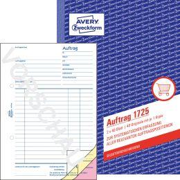 AVERY Zweckform Formularbuch Auftrag, SD, A6, 2 x 40 Blatt