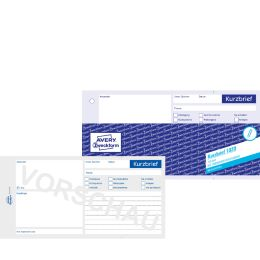AVERY Zweckform Formularbuch Kurzbrief, SD, 1/3 A4