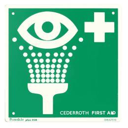 CEDERROTH Hinweisschild Augendusche, nachleuchtend