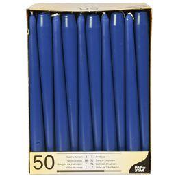 PAPSTAR Leuchterkerzen, 22 mm, dunkelblau, 50er Pack