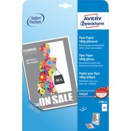 AVERY Zweckform Flyer-Papier, DIN A4, 180 g/qm, weiß