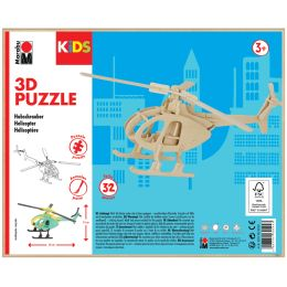 Marabu KiDS 3D Puzzle Hubschrauber, 32 Teile