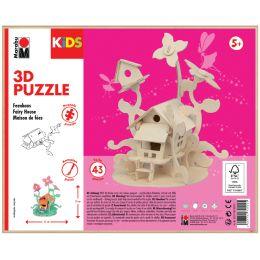 Marabu KiDS 3D Puzzle Feenhaus, 43 Teile