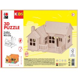 Marabu KiDS 3D Puzzle Strandhaus, 27 Teile