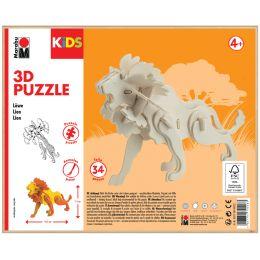Marabu KiDS 3D Puzzle Löwe, 34 Teile